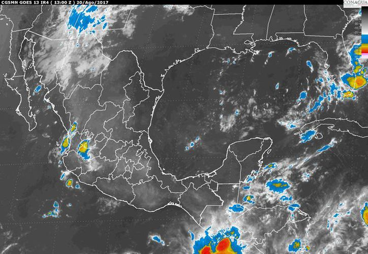 """La Depresión Tropical """"Harvey"""" del Mar Caribe se degrado a una Onda Tropical. (Conagua)"""