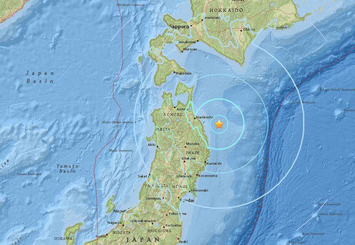 Un fuerte terremoto de magnitud 5,9 se ha producido en Japón. (usgs.gov).