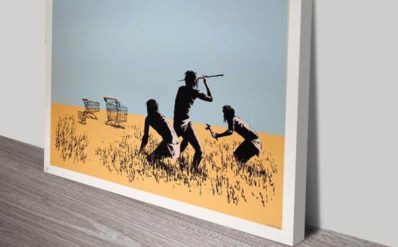 Roban un grabado de Bansky de galería de arte en Canadá