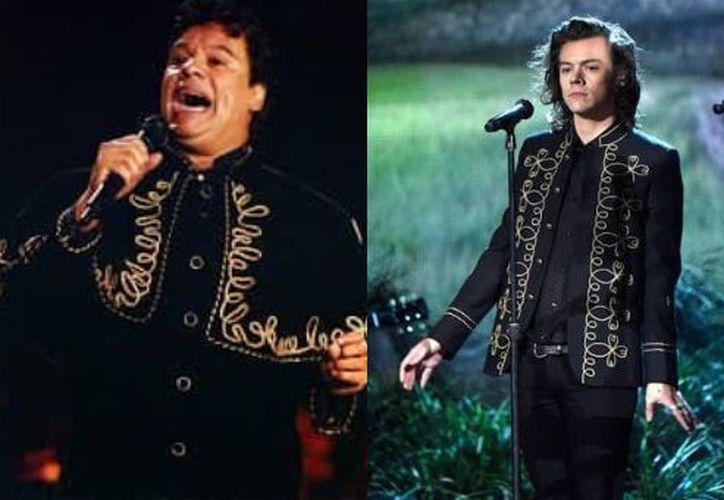 El 'ex One Direction', Harry Styles ha robado el estilo de los atuendos del 'Divo de Juárez'. (Contexto/Internet)