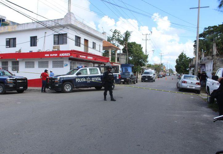 Los agentes de la Policía Estatal aseguraron que todo se trató de un accidente. (Foto: Redacción/SIPSE)