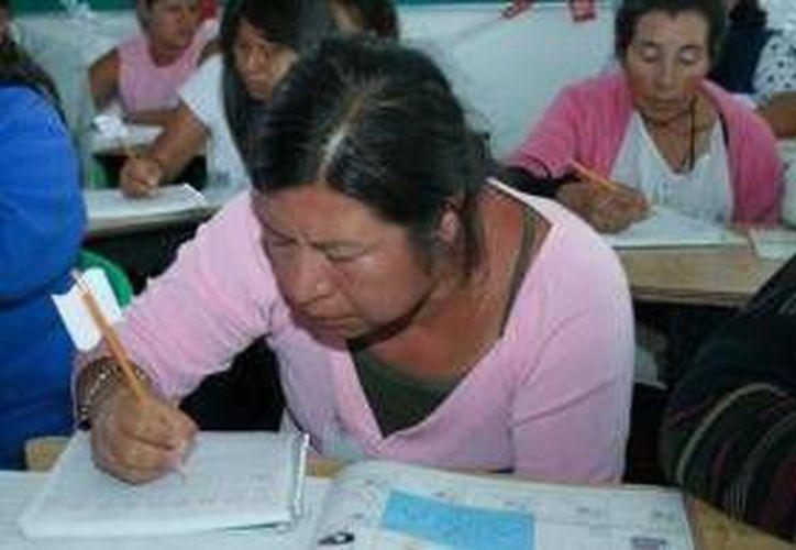 La meta de alfabetización de adultos para 2014 en los municipios de Benito Juárez e Isla Mujeres es de 2 mil 964.  (Archivo/SIPSE)
