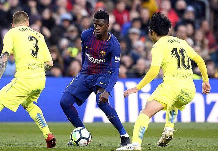 Ousmane Dembélé faltó al entrenamiento. (AFP)