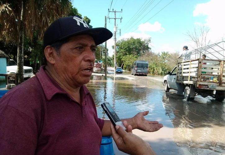 Eusebio Chimal May, secretario del Comisariado Ejidal. (Rossy López/SIPSE)