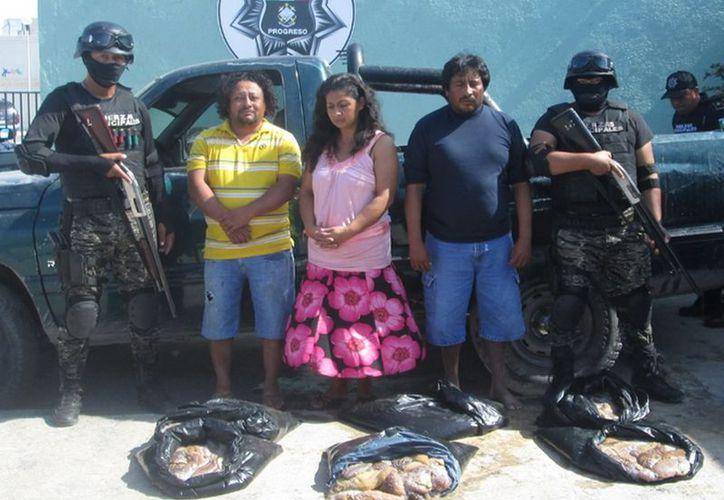 Los inculpados son: Lester Geovany Maldonado Ayala, Leobardo del Jesús Cano Cetina, Concepción de la Cruz Cruz y su hijo, menor de edad. (Cortesía)