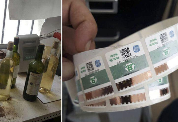 Encontraron botellas, equipo y accesorios, habilitado a modo de laboratorio para procesar alcohol adulterado. (Redacción/ SIPSE)