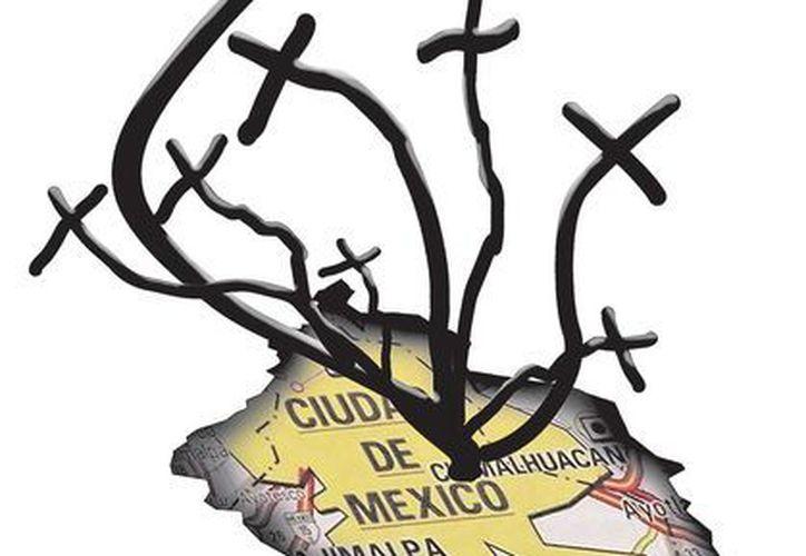 """Sobre el camellón hay cruces y algunas frases como: """"Recuerdo de tu familia. Te amamos carnalito"""". (Milenio)"""