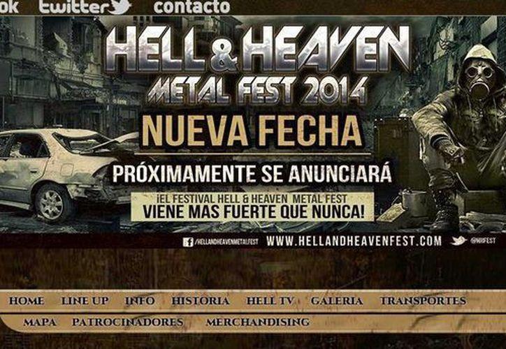 Tras ocho meses de haberse cancelado, el festival Hell and Heaven Metal se llevará finalmente a cabo en México. (Captura de pantalla de la página .hellandheavenfest.com)