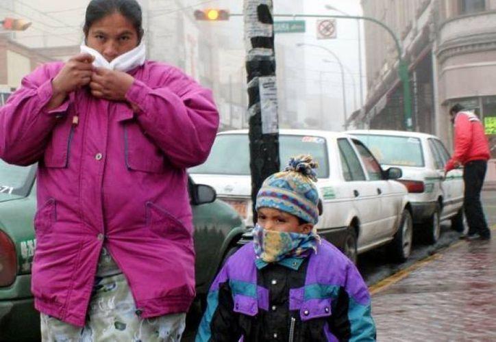 En la comunidad de Emiliano Zapata hay 41 menores enfermos a causa del frío y las lluvias. (Notimex/Archivo)