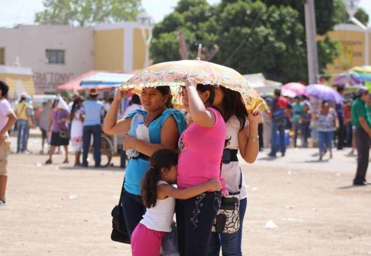 Los termómetros fluctuarán entre los 35 y los 40 grados centígrados en estos días en Yucatán. (SIPSE)