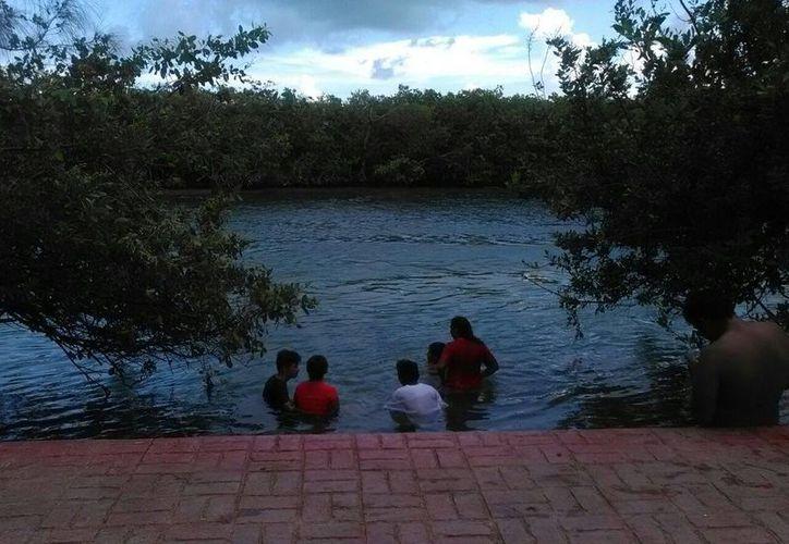 Mencionan que la zona no es apta para nadar ni pescar. (Israel Leal/SIPSE)