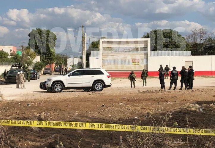 En la zona se realizó un operativo para resguardar la evidencia. (Novedades Yucatán)