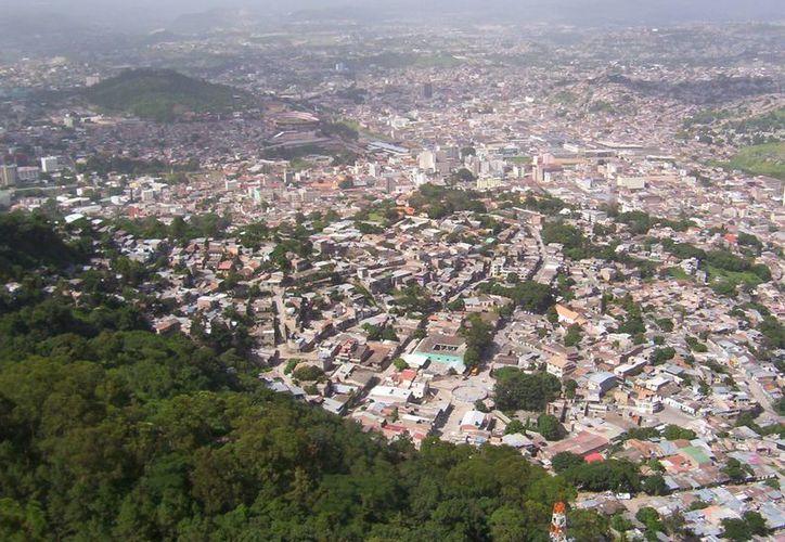 Imagen de archivo de la capital de Honduras, Tegucigalpa.