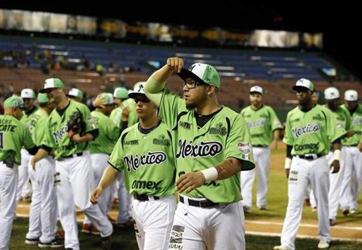 Venados de Mazatlán tras vencer este miércoles con un 6-4 a los  venezolanos Tigres de Aragua, en el estadio Quisqueya Juan Marichal de Santo Domingo. (EFE)