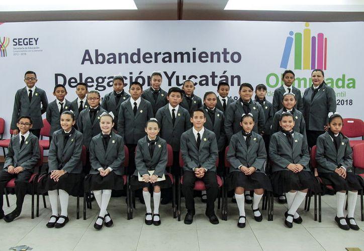 Los 23 niños yucatecos destacaron entre más de 37 mil 700 participantes en la Olimpiada del Conocimiento Infantil. (Milenio Novedades)