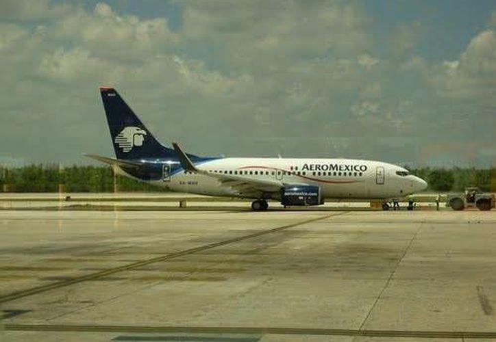 Aeromexico reporto fallas en algunos de sus vuelos. ( Facebook.com)