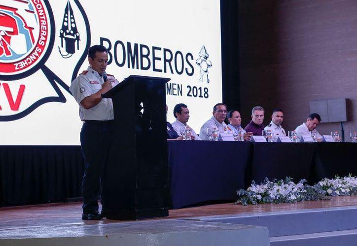 """La XV Academia de Bomberos """"Alejandro Contreras Sánchez"""" 2018, se realiza por cuarta ocasión en el Hotel Paradisus. (SIPSE)"""