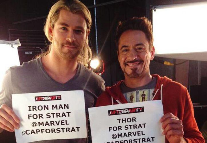 """Luego de protagonizar las cintas """"Iron Man"""" y """"The Avengers"""", Robert Downey Jr. (d) encabezó por segundo año consecutivo el listado de Forbers. (@RobertDowneyJr)"""
