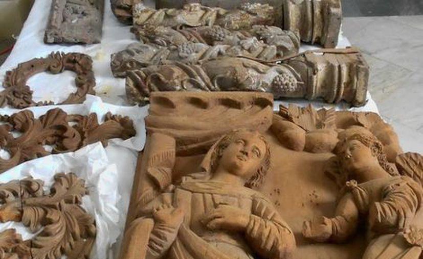 Más de 250 fragmentos de retablos, nichos, ornamentos y esculturas serán restaurados e integrados al Museo Regional de Antropología de Yucatán Palacio Cantón. (Archivo Notimex).