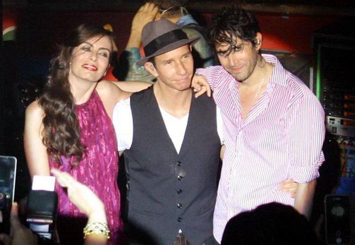Sasha, Erik y Benny durante su concierto el pasado viernes en el palenque de Xmatkuil. (Milenio Novedades)