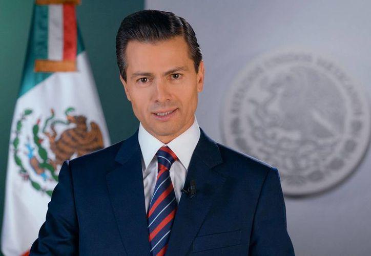 Peña Nieto envió este lunes una felicitación a los mexicanos con motivo del Año Nuevo. (Notimex)