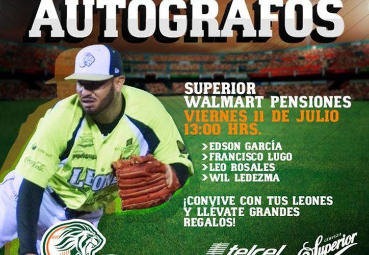 El equipo Leones de Yucatán reajustó el evento, de presentación del leoncito a sólo firma de autógrafos. (Facebook/Leones de Yucatán - Oficial)