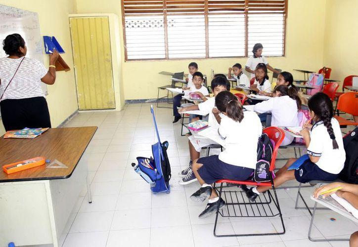La jornada informativa a lo largo del estado se realiza sin afectar la educación de los alumnos. (Israel Leal/SIPSE)