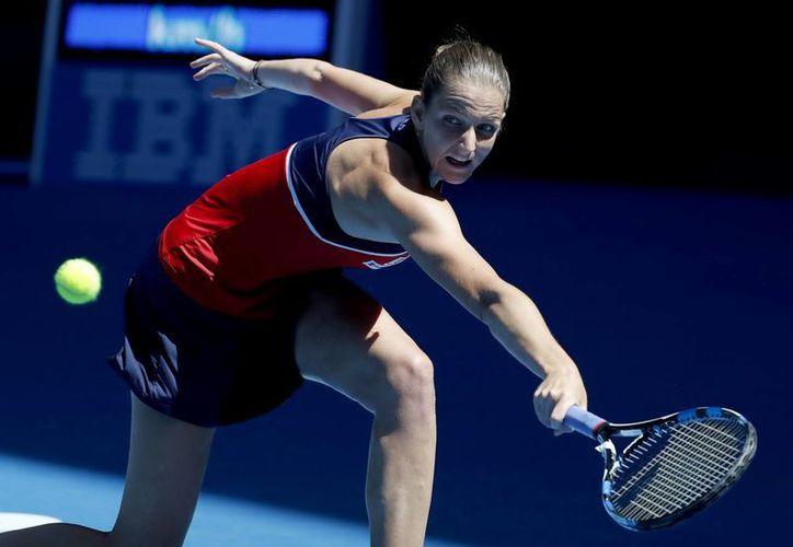 Karolina Pliskova se convirtió en la campeona del Torneo de Tenis de Qatar: venció en 2 sets a Caroline Wozniacky. (Archivo/AP)
