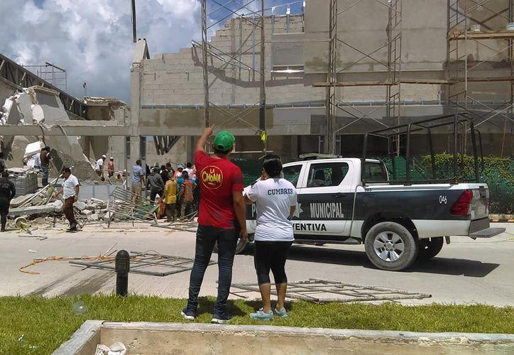 Autoridades municipales se trasladaron al lugar. (Facebook: Rubytha Ramos García)