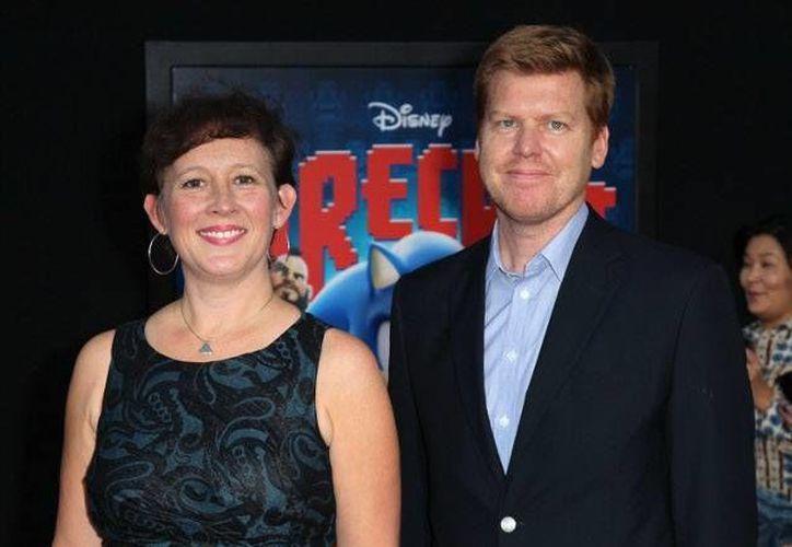 Kristina Reed y el director John Kahrs, productores de Paperman. (www.muycine.com/Archivo)