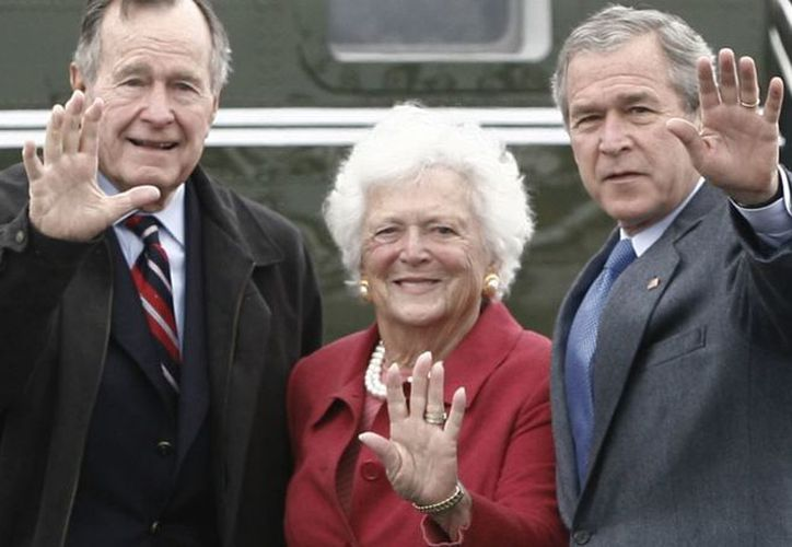 Barbara Bush fue esposa y madre de presidentes de Estados Unidos. (Internet)
