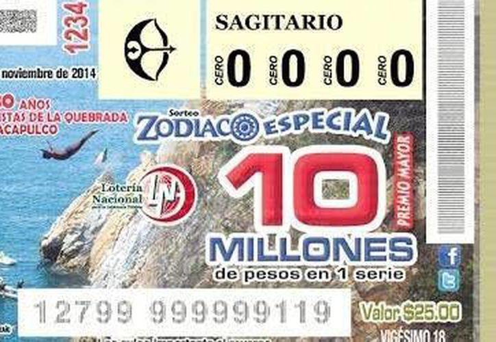 Un billete que se remitió para su venta en Mérida fue el ganador del Premio Mayor del Sorteo Zodiaco del 30 de noviembre. (SIPSE)