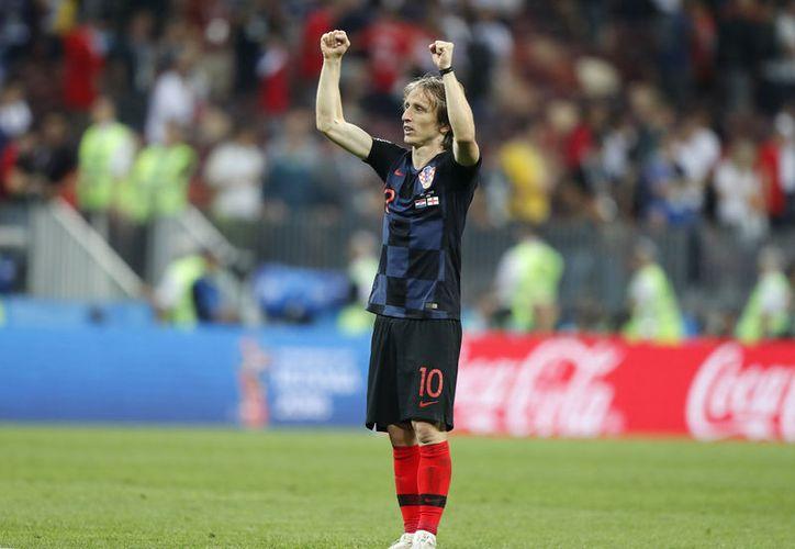 Luka Modric es una maquinita de 1.72 metros que no ha parado de correr durante el Mundial (Foto AP)