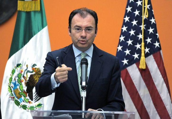 El secretario de Hacienda indicó que la lista de empresas y personas vinculadas al crimen será realizada con apoyo de Estados Unidos. (Notimex)
