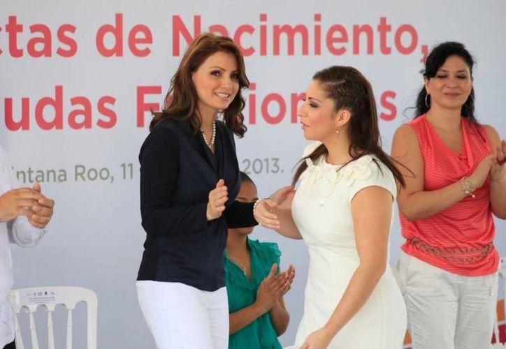 La primera dama de México, Angélica Rivera de Peña. (Harold Alcocer/SIPSE)