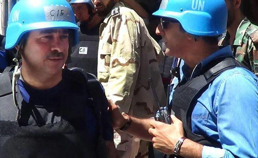 Miembros del equipo de investigación de la ONU en Damasco. (Agencias)