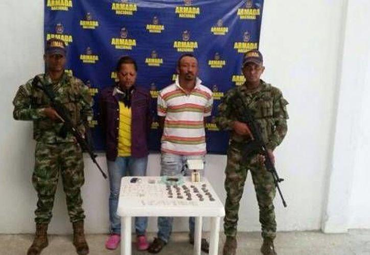 Más de treinta personas fueron detenidas, por vínculos con el narcotráfico, en diferentes poblaciones del Departamento de Sucre en Colombia (Facebook Armada Nacional de Colombia)
