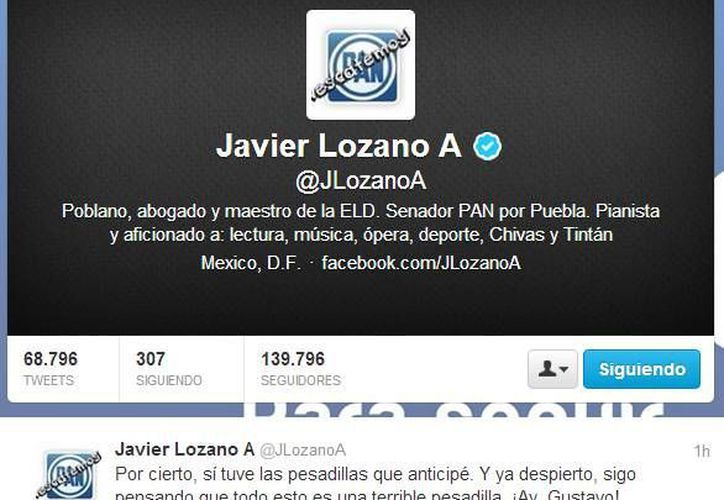 """Javier Lozano consideró que es una """"terrible pesadilla"""" la llegada de Jorge Luis Preciado a la coordinación del PAN en el Senado. (SIPSE)"""