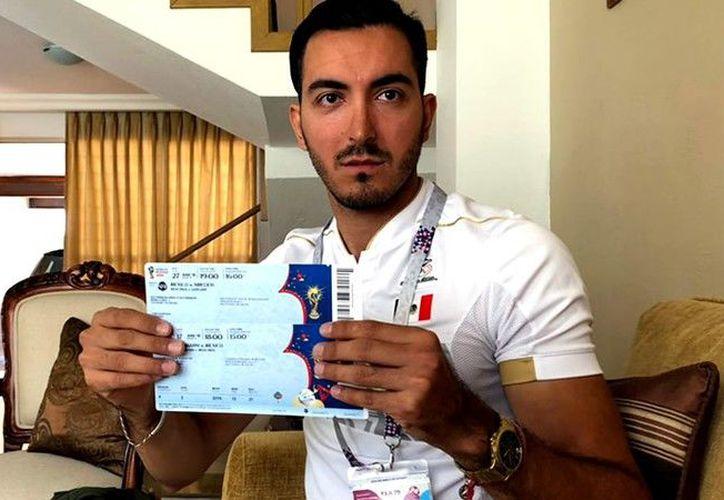 Jaime Nelson Monteón, un aficionado de Guadalajara que irá a Rusia 2018. (Foto: MedioTiempo)