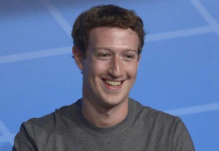 Mark Zuckerberg en su participación en el Mobile World Congress en Barcelona, España, quien habló de su proyecto Internert.org. (Agencias)