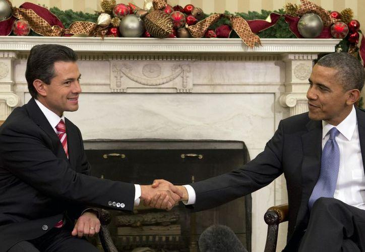 Obama recibió a Enrique Peña en el salón oval de la Casa Blanca. (Agencias)