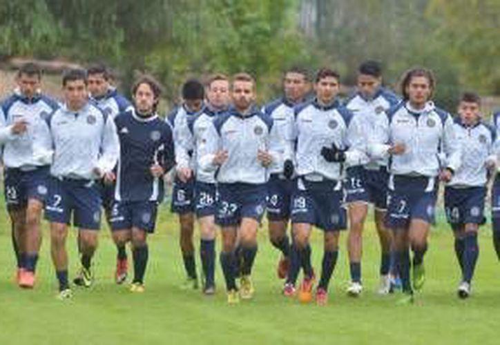 Entrenamiento del equipo Atlético San Luis para el partido contra el CF Mérida. (Milenio Novedades)