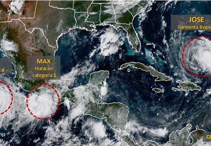 Las precipitaciones pueden estar acompañados de actividad eléctrica y rachas de viento superiores a 60 km/h. (Conagua)