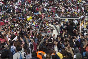 El Papa Francisco en el Zócalo de la Ciudad de México