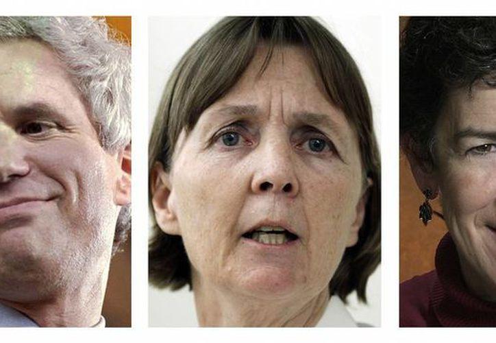 Los abogados David Bruck (i), Judy Clarke y Miriam Conrad (r) forman parte del equipo defensor de Dzhokhar Tsarnaev, principal sospechoso del atentado terrorista en Boston en 2013. (Foto: AP)
