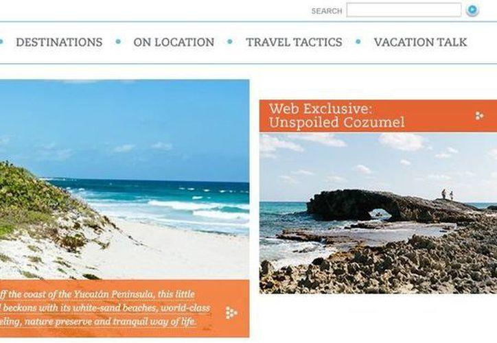"""La revista """"Enldess Vacation"""" promociona en su edición de abril lugares turísticos de Cozumel.  (Redacción/SIPSE)"""