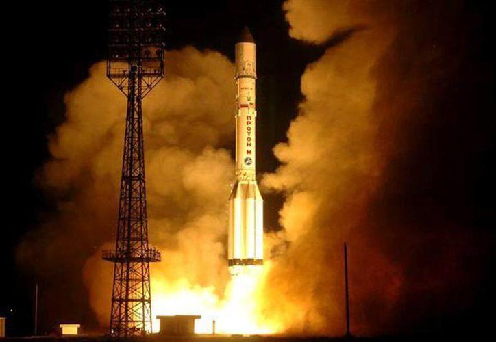 El proyecto ganador será integrado y lanzado en el satélite educativo miniaturizado 'CanSat AEM-1 Base'. Imagen del satélite Morelos II durante su lanzamiento. (Foto de contexto @AEM_mx)