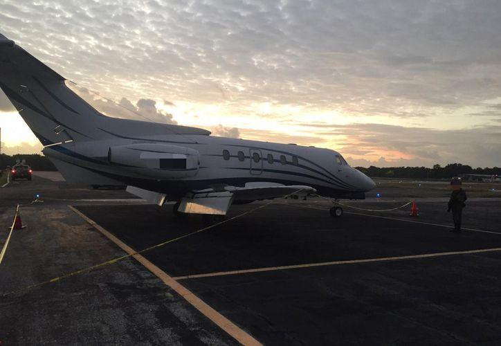 La aeronave fue puesta a disposición del agente del Ministerio Público de la Federación. (Cortesía)