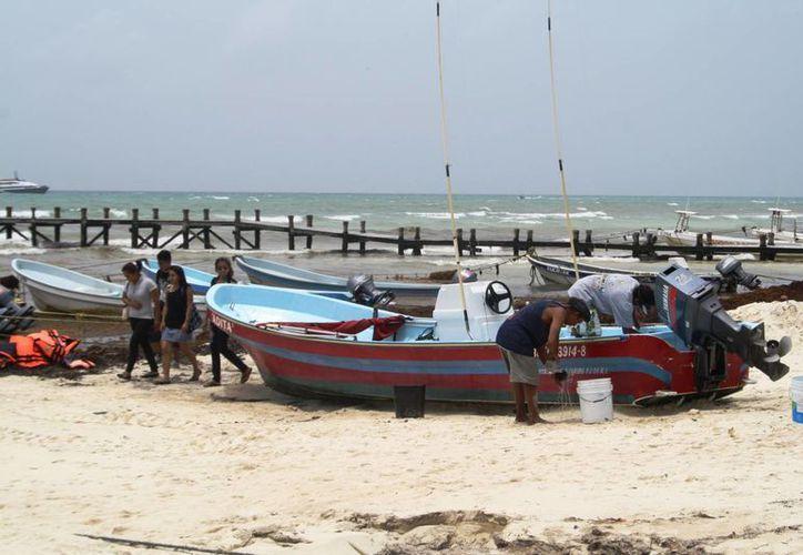 Ayer fue reabierto el puerto a la navegación en Playa del Carmen. (Octavio Martínez/SIPSE)