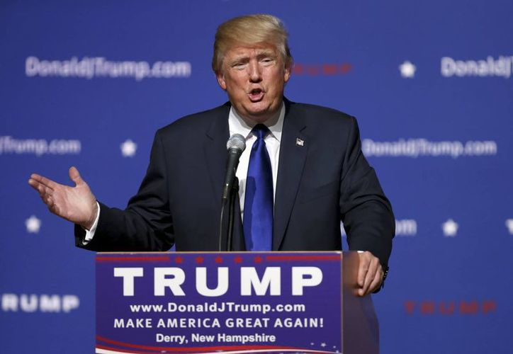 Al referirse a la agresión contra un indocumentado en Boston, Donald Trump dijo que algunos de sus seguidores 'son muy apasionados'. (AP)
